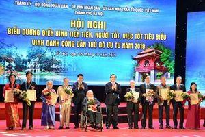 Hà Nội vinh danh công dân Thủ đô ưu tú năm 2019