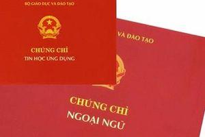 Thêm 9 trường đại học bị yêu cầu dừng cấp chứng chỉ ngoại ngữ, tin học