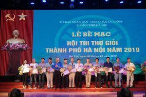 86 giải xuất sắc được trao cho thợ giỏi thành phố Hà Nội năm 2019