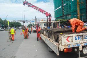 Nút giao trước cầu Sài Gòn tạm thời 'đóng cửa'