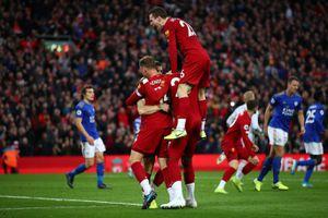 Phạt đền phút bù giờ, Liverpool thắng kịch tính Leicester City