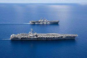 Hải quân Mỹ 'bật mí' về dàn chiến hạm, máy bay mới tập trận ở Biển Đông