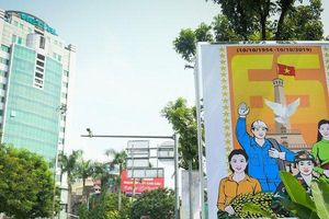 Hà Nội trang hoàng cờ hoa kỷ niệm ngày giải phóng Thủ đô