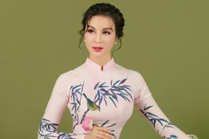 MC Thanh Mai khoe nhan sắc không tuổi với áo dài truyền thống