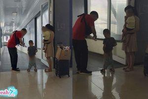 Bố mẹ để con trai thản nhiên đi vệ sinh giữa chốn công cộng, cộng đồng mạng: 'Chó có đuôi, con người phải có ý thức'