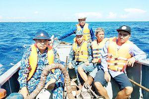 Cứu 12 ngư dân chìm tàu gần đảo Đá Tây