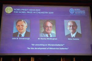 Giải Nobel Hóa học 2019 trao cho 3 người đặt nền móng cho 'xã hội không dây'