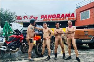 Cộng đồng mạng phẫn nộ nhóm người gần như khỏa thân ở Mã Pì Lèng
