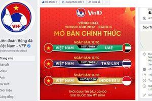Bắt đầu bán vé các trận bóng đá giữa Đội tuyển Việt Nam với các đội còn lại trên sân Mỹ Đình từ ngày 12/10