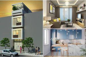 Tư vấn thiết kế nhà 4 tầng cho gia đình 3 người theo phong cách tối giản với chi phí dưới 1 tỷ