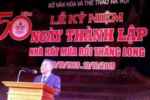 Nhà hát Múa rối Thăng Long đón nhận Bằng khen của thành phố Hà Nội