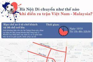 Giao thông Hà Nội trong ngày diễn ra trận Việt Nam - Malaysia