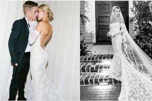 Dòng chữ trên váy cưới của Hailey Bieber bị sai chính tả?