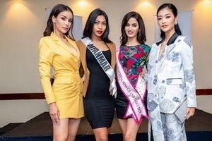 Á hậu Kiều Loan đọ dáng thí sinh Hoa hậu Hòa bình ở Venezuela