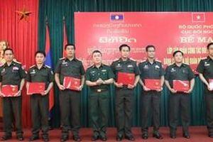Bế mạc tập huấn công tác đối ngoại quốc phòng cho Quân đội nhân dân Lào