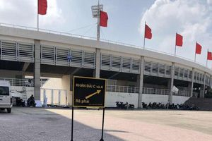 Sân vận động Mỹ Đình trước giờ bóng lăn trận ĐT Việt Nam - Malaysia