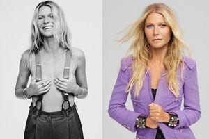 'Bạn gái Người Sắt' để ngực trần chụp ảnh trên tạp chí