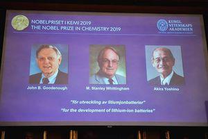 Nobel Hóa học 2019: Vinh danh 3 nhà sáng chế pin lithium-ion