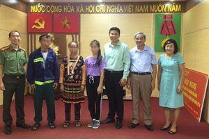 Điện Biên tiếp nhận một thiếu nữ bị lừa bán sang Trung Quốc