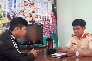 Nhận lại tài sản, nam thanh niên viết thư cảm ơn CSGT ở Bình Định