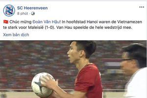 SC Heerenveen chúc mừng Văn Hậu chiến thắng cùng đội tuyển Việt Nam