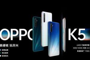 OPPO K5- smartphone tầm trung nhưng trang bị nhiều tính năng cao cấp