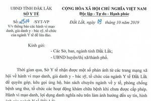Đắk Lắk: Nhiều đối tượng mạo danh bác sĩ để lừa đảo