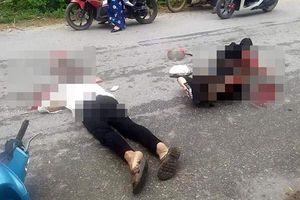 Tông phải chó trên đường, hai vợ chồng bị xe tải cán thương vong