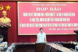 9 tháng, GRDP Thái Bình tăng 10,22% so với cùng kỳ