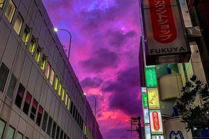 Bầu trời Nhật Bản chuyển màu tím 'lịm' trước siêu bão mạnh nhất lịch sử
