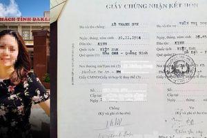 Vụ nữ Trưởng phòng ở Đắk Lắk: Người chồng kết hôn với thân phận giả của vợ?