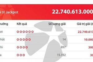 Kết quả xổ số Vietlott 12/10: Lại 'nổ' giải độc đắc gần 23 tỷ đồng