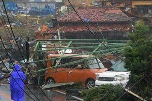 Hình ảnh tang thương của Nhật Bản khi siêu bão châu Á - siêu bão mạnh nhất thế kỷ chưa vào đất liền nhưng đã ảnh hưởng nặng nề