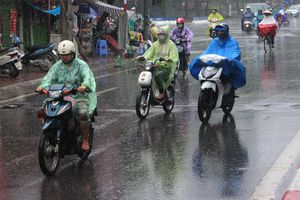 Gió mùa đông bắc gây mưa khắp miền Bắc, miền Trung