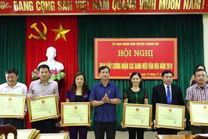 Đảng bộ huyện Thanh Oai lãnh đạo xây dựng mô hình làng văn hóa kiểu mẫu