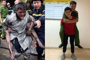 Chiến sĩ cõng chàng trai khỏi đám cháy nằm viện 10 ngày sau cứu người