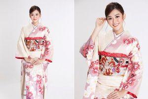 Á hậu Tường San diện kimono xinh đẹp, hóa mỹ nhân xứ Phù Tang