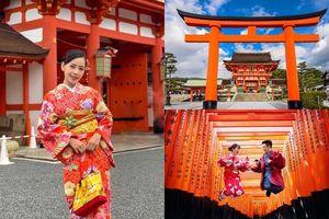 Ghé thăm ngôi đền đẹp không góc chết Chi Pu vừa đến ở Nhật Bản, mặc kimono chụp ảnh nữa thì thật 'quên sầu'