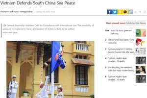 Báo Hàn Quốc: 'Việt Nam bảo vệ hòa bình ở Biển Đông'