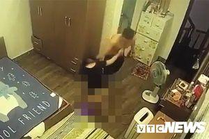 Gã chồng hờ đánh đập vợ dã man trước mặt con nhỏ