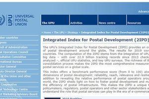 Việt Nam tăng 5 bậc trong bảng xếp hạng của Liên minh Bưu chính thế giới