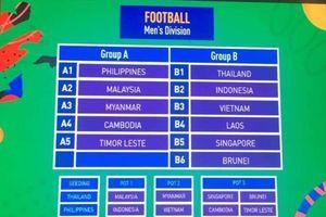 Vào bảng 'tử thần', Việt Nam đối đầu Thái Lan ở SEA Games 30