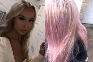 Tóc của cô gái Anh bỗng dưng chuyển sang màu hồng sau khi tắm
