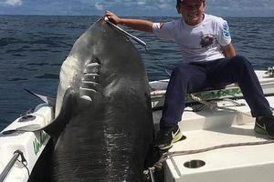 Cá mập 314 kg 'thất thủ' trước bé trai 8 tuổi