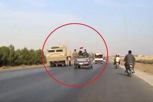 Khoảnh khắc hiếm có khi lực lượng Mỹ 'chạm trán' binh sĩ Syria trên đường