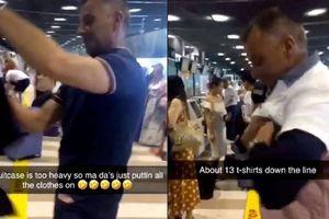 Hành khách 'nhồi' 2,5 kg quần áo lên người để tránh bị phạt tiền