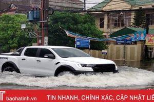 Mưa lớn ở Hà Tĩnh, cảnh báo lũ quét, sạt lở đất và ngập úng cục bộ