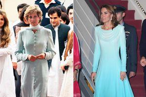Kate Middleton diện đồ giống Công nương Diana khi đến Pakistan