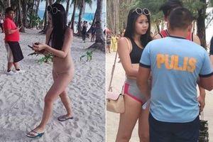 Du khách Đài Loan bị bắt và phạt tiền vì mặc bikini nhỏ như sợi chỉ