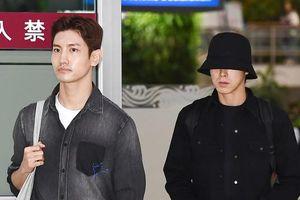 Xót xa hình ảnh thành viên DBSK tiều tụy khi trở về Hàn Quốc giữa tin buồn của Sulli